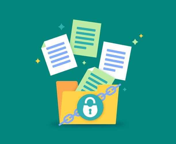 File folder security document and data safety.